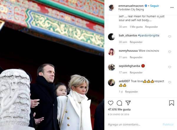 Foto de Emmanuel Macron y Brigitte Macron