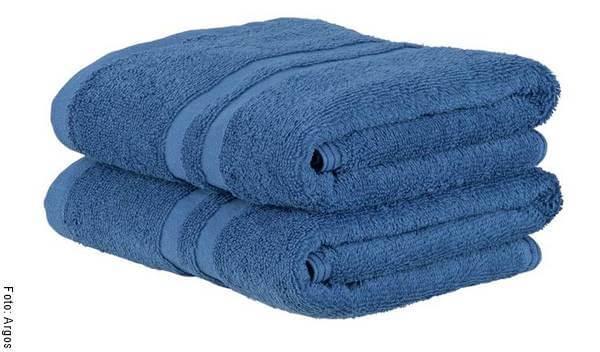 Foto de unas toallas azules