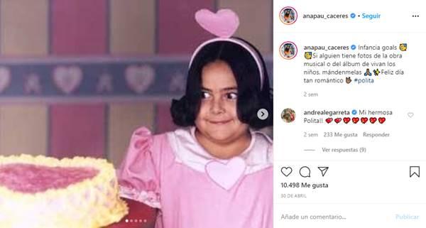 Foto de Polita en la época de Vivan los niños