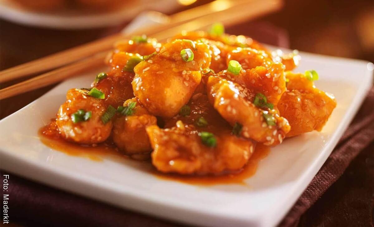 Receta de pollo a la naranja oriental