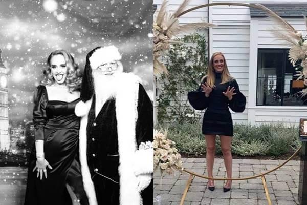 Foto antes y después de adelgazar de Adele