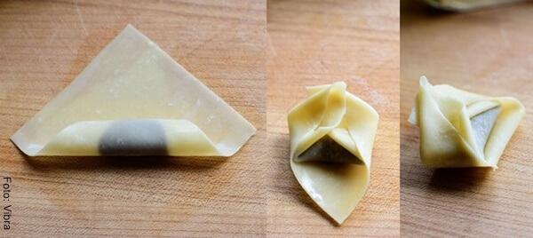 Foto de envolturas de frituras rellenas de Nutella