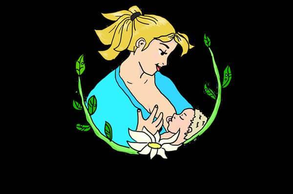Ilustración de una mamá amamantando para Beneficios de la caléndula