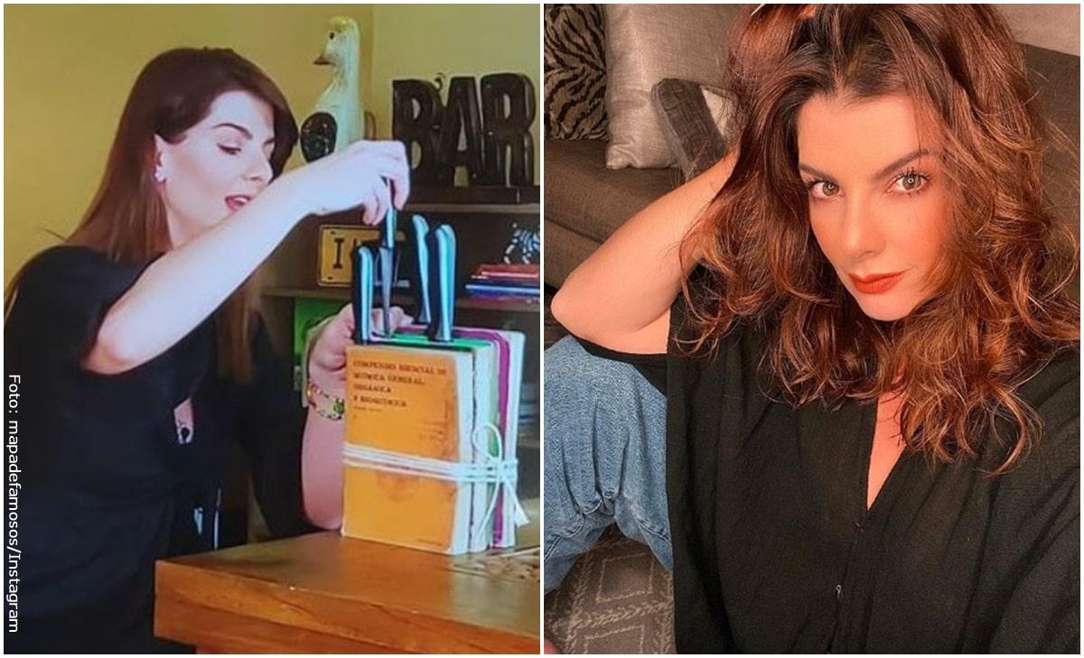 Carolina Cruz hizo portacuchillos con libros y fue blanco de críticas