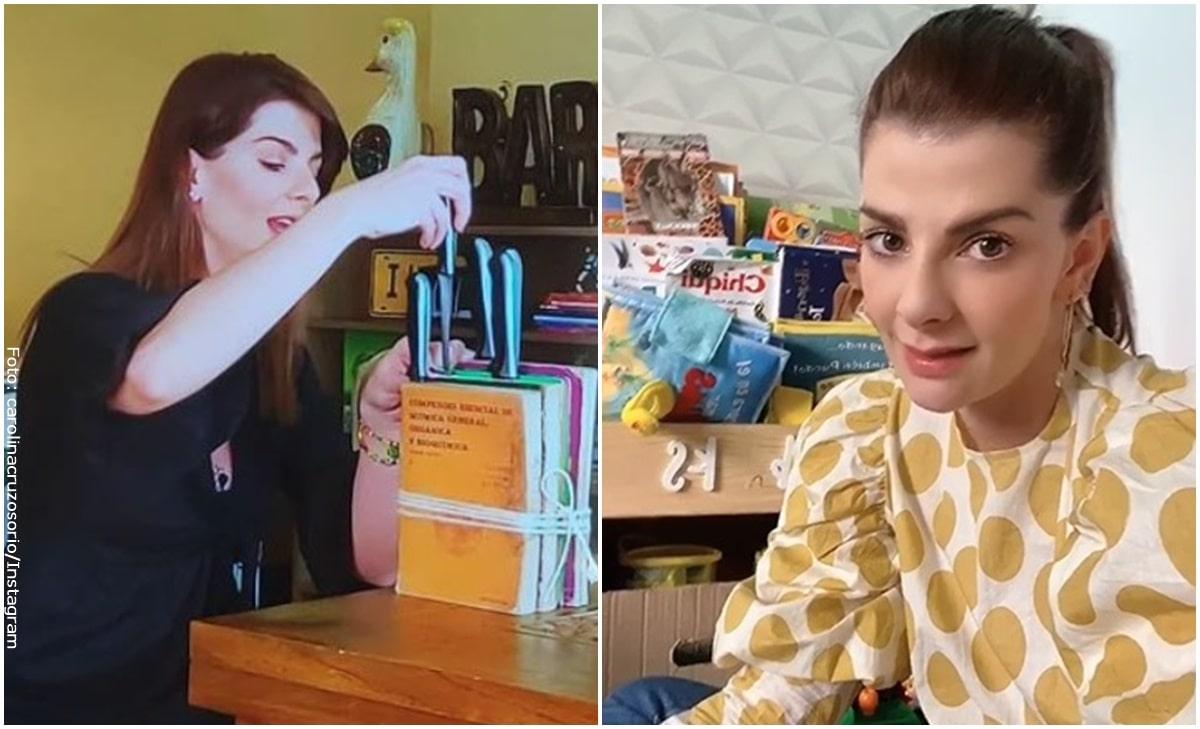 Carolina Cruz se disculpó por su idea del portacuchillos con libros
