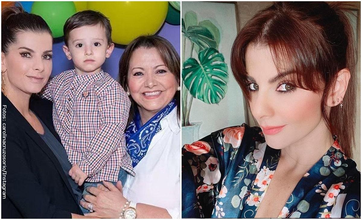¡Carolina Cruz y su mamá lucen iguales en vestido de baño!