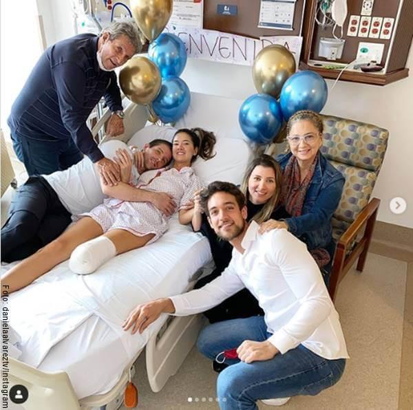 Foto de esta famosa y su familia en el hospital tras su amputación de pierna