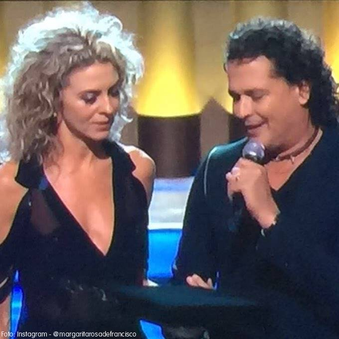 Foto de  Margarita Rosa de Francisco y Carlos Vives en los Premios TVyNovelas