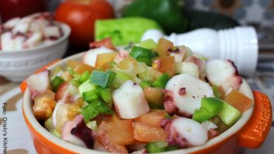 Receta de ensalada de pulpo, un plato con tinte español5