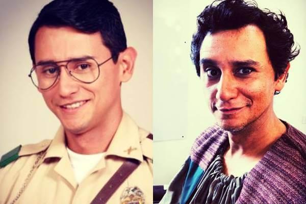 Foto antes y después del actor Carlos Manuel Vesga