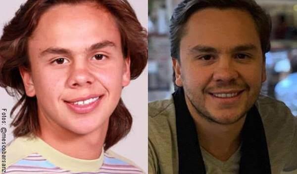 Foto antes y después del actor Martín Escobar