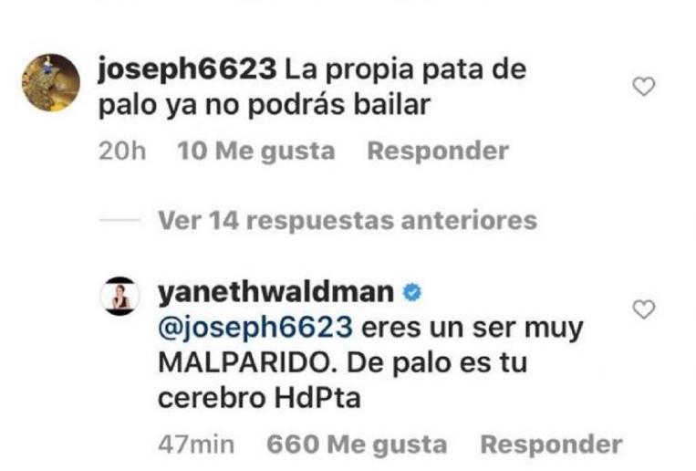 "Yaneth Waldman ""madreó"" a hombre que se burló de Daniella Álvarez"
