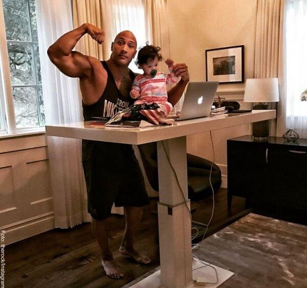 Foto: The Rock con su hija