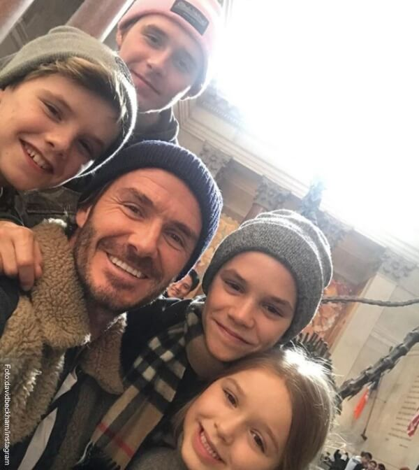 Foto: David Beckham con sus hijos