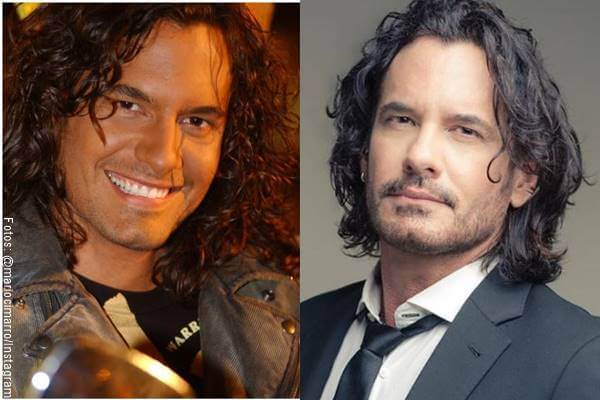 Foto del actor Mario Cimarro antes y después