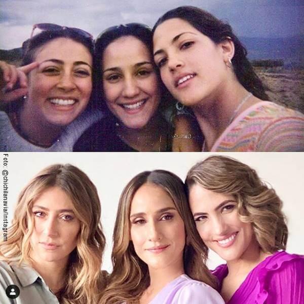 Foto de Chichila Navia, Verónica Orozco y Carolina Cuervo antes y después