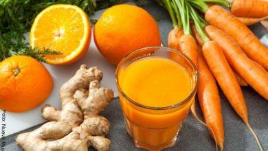 Batido saludable de naranja, zanahoria y jenjibre2