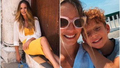 Claudia Bahamón mostró sus glúteos en bikini y su hijo la regañó