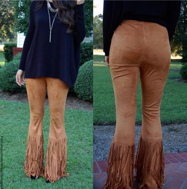 pantalones de flecos