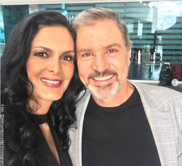 Foto del actor Ricardo Vélez y Marcela Posada