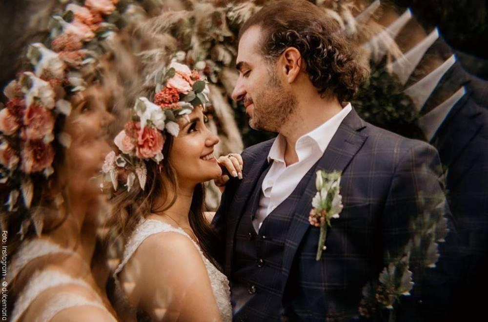 Foto de Dulce María y Paco Álvarez bailando en su matrimonio
