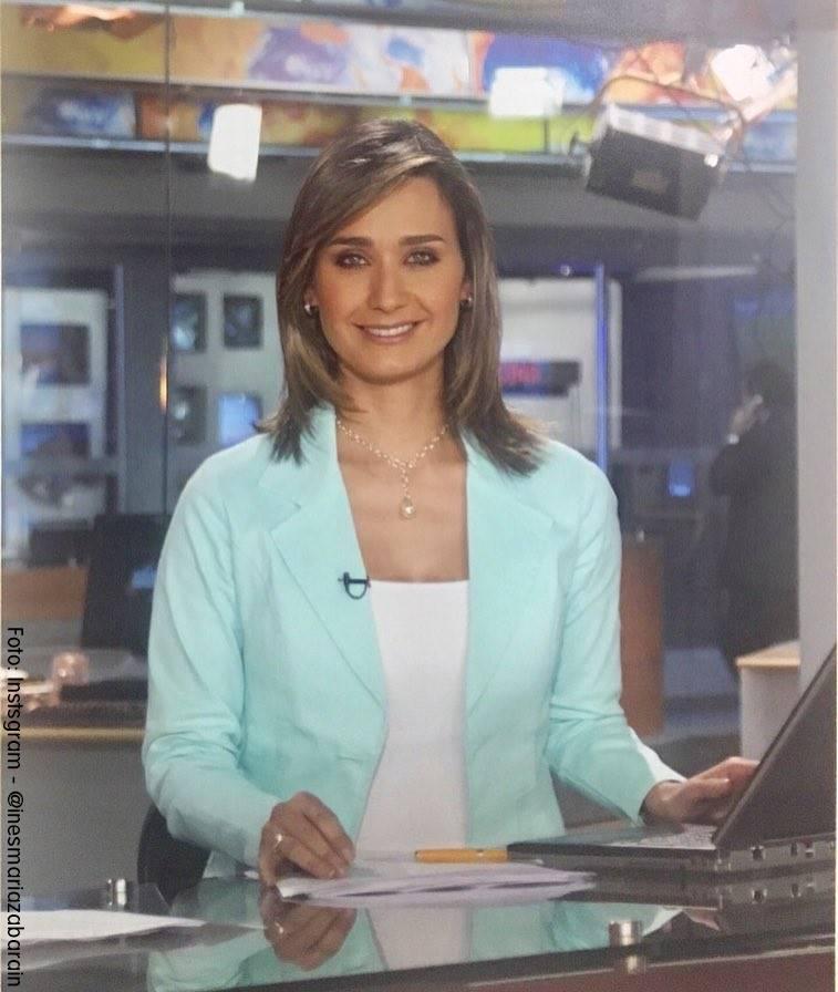 Foto de Inés María Zabaraín presentando Noticias Caracol
