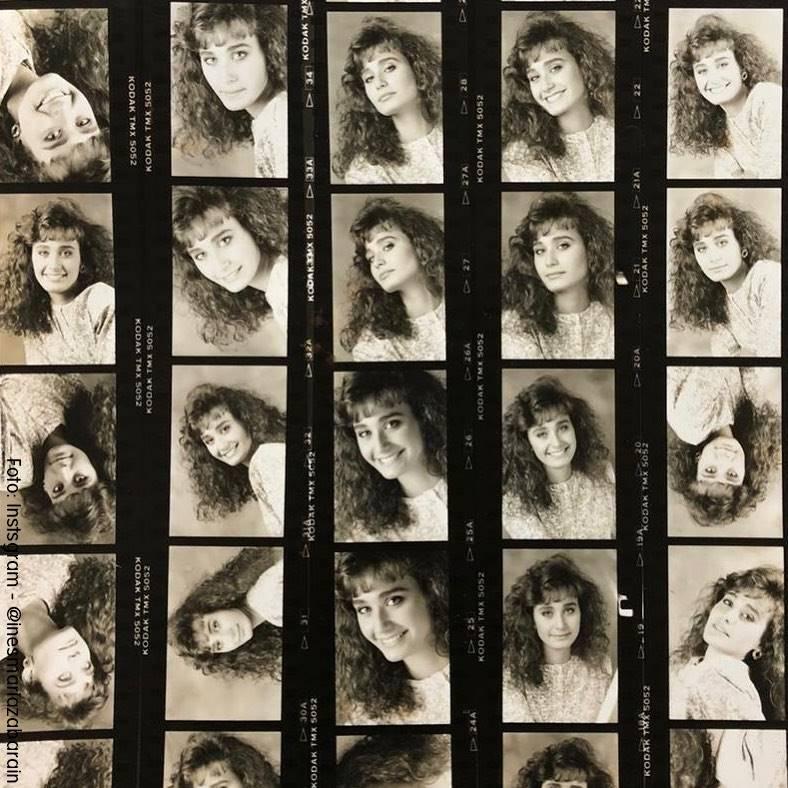 Fotos de Inés María Zabaraín en su época de universitaria con el pelo ondulado