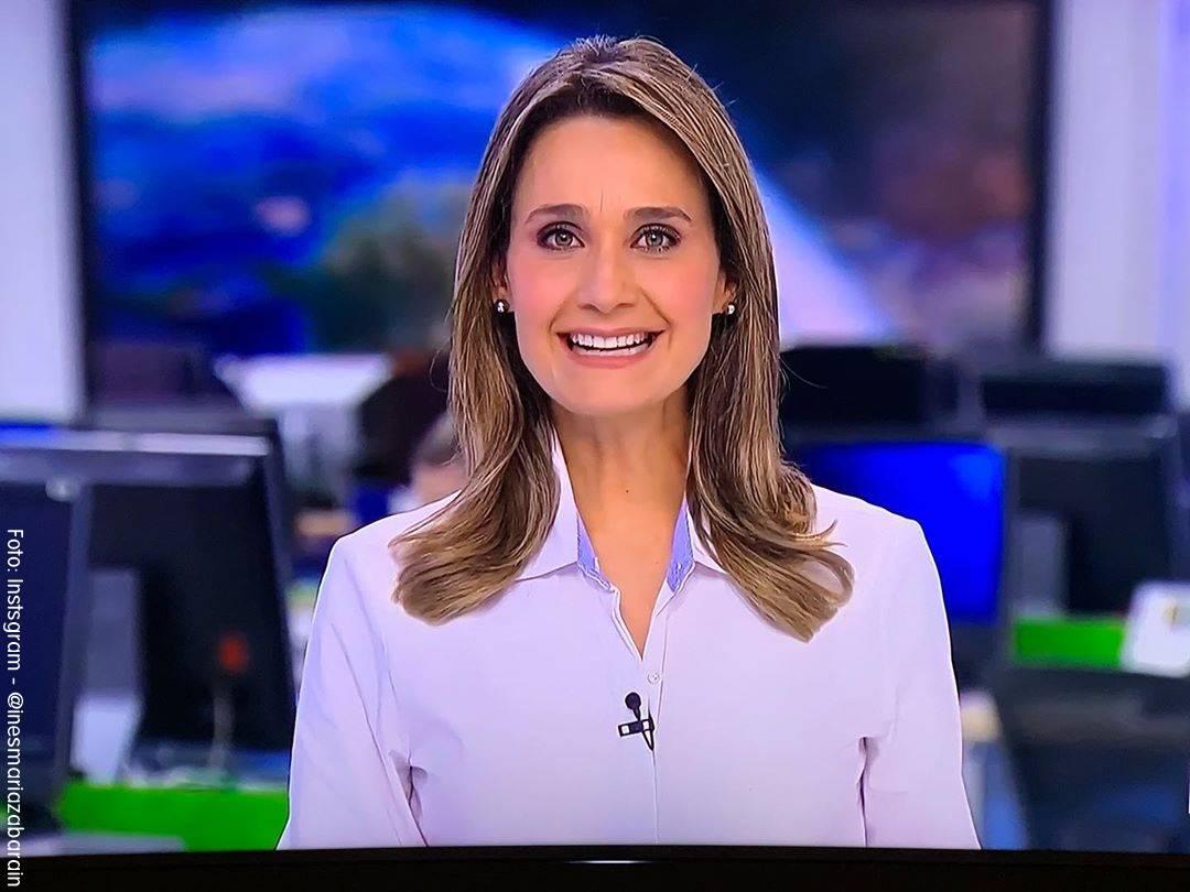 Foto de Inés María Zabaraín presentando Noticias RCN