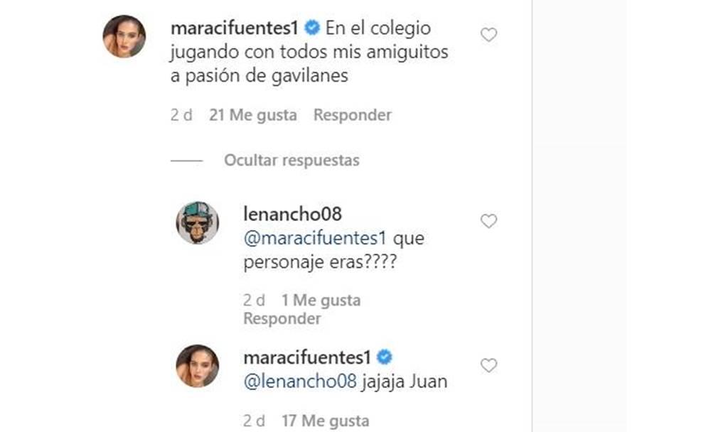 Screenshot de los comentarios de Mara Cifuentes sobre la novela Pasión de Gavilanes