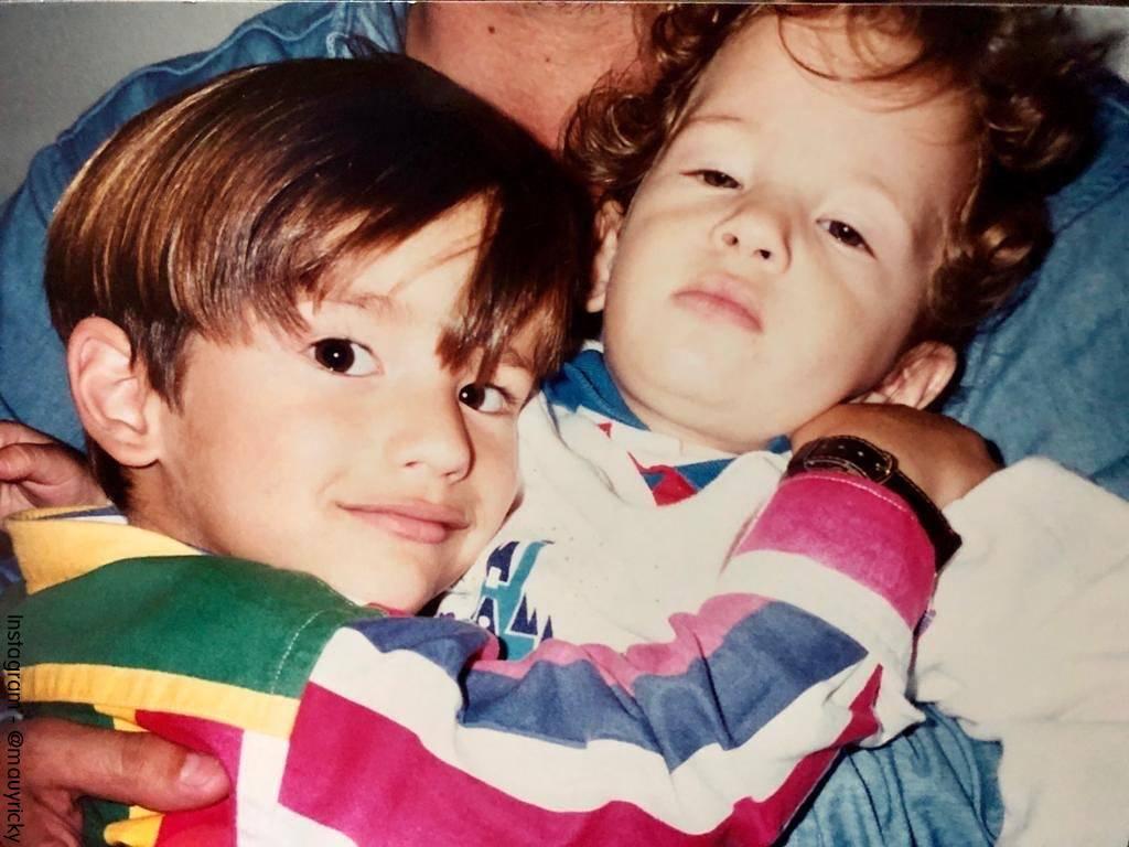 Foto de Mau y Ricky cuando eran unos niños