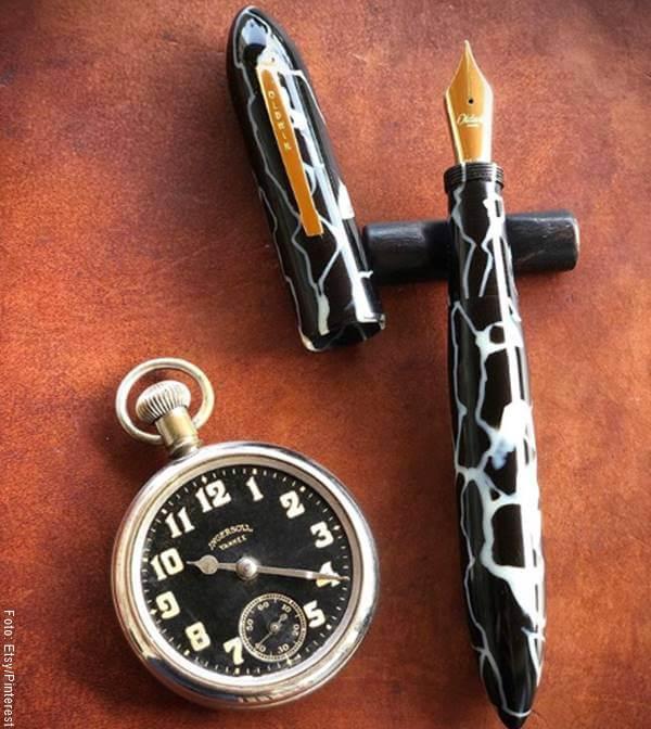 Foto de un reloj de bolsillo