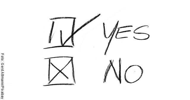 Imagen de un YES y un NO