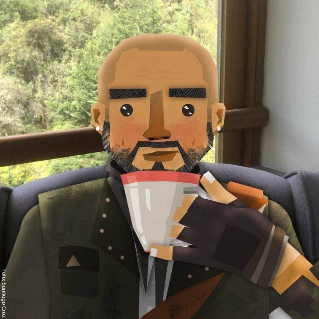 Foto de la versión animada de Santiago Cruz