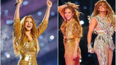 Shakira donó la chaqueta dorada que usó para el Super Bowl