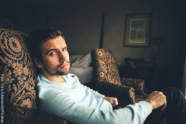 Foto de un hombre guapo