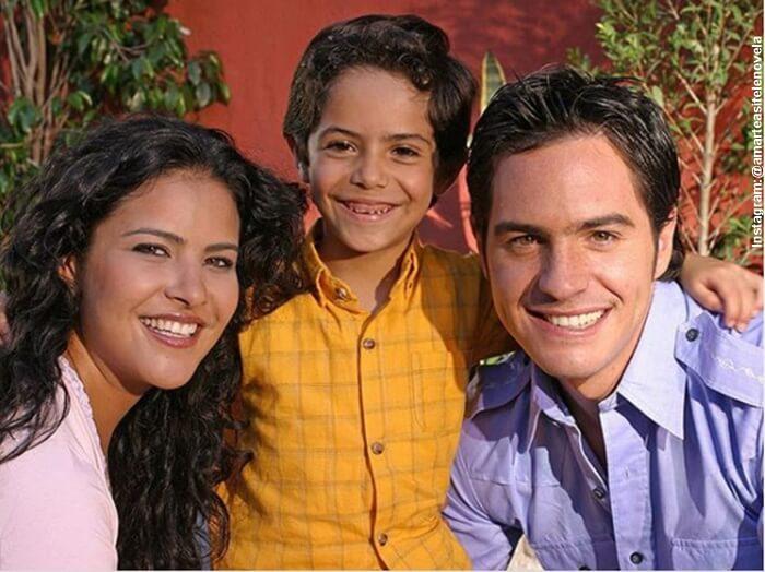 Foto de los 3 protagonistas de la novela Amarte así Frijolito