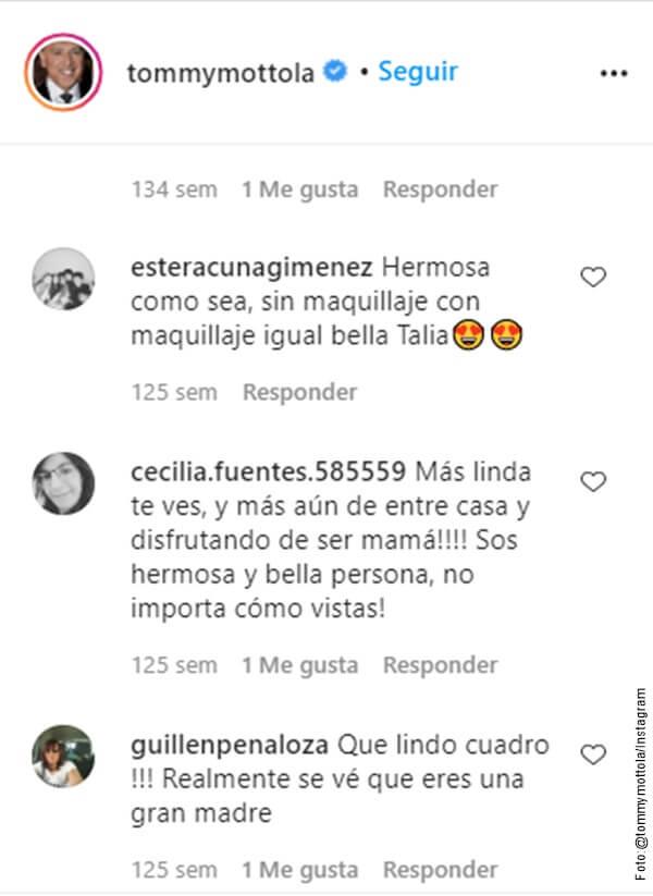 Pantallazo de comentarios de los seguidores a Tommy Mottola