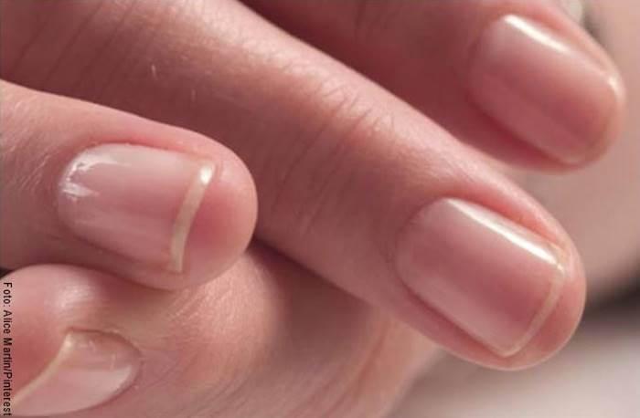 Foto de uñas femeninas sin esmalte