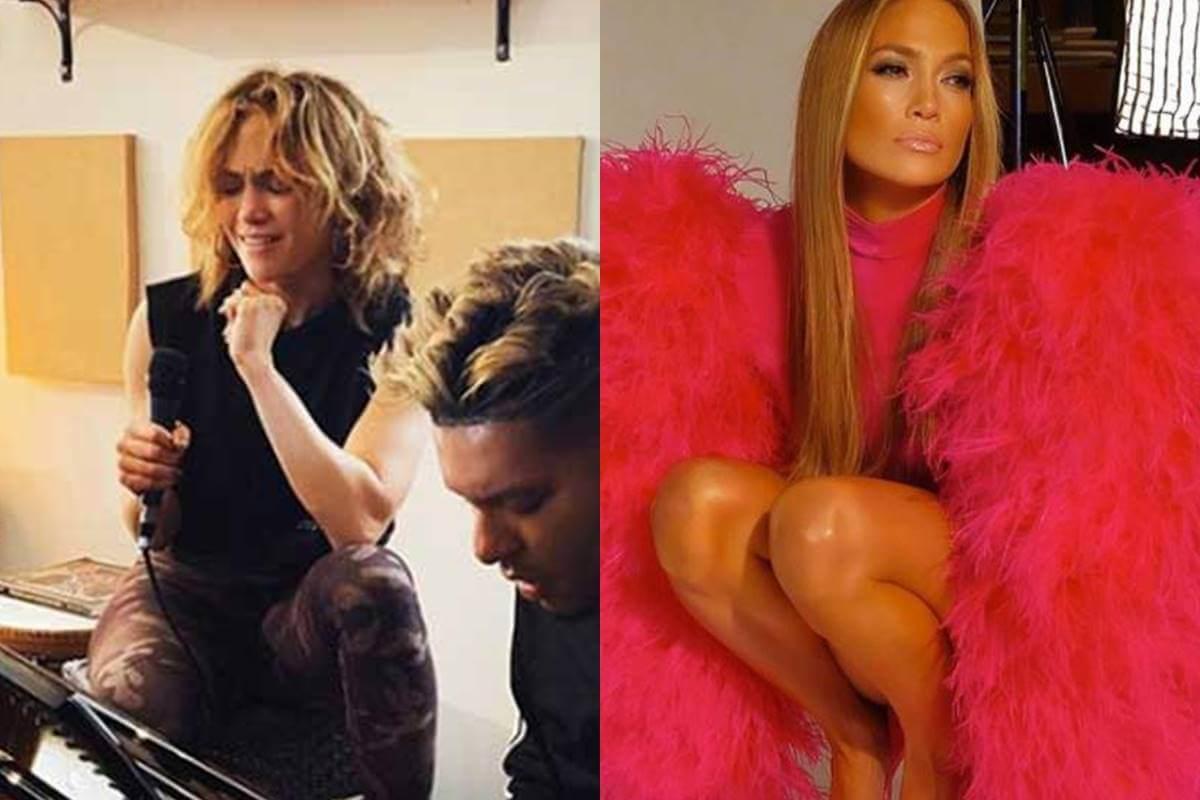 Foto de Jennifer Lopez con y sin extensiones