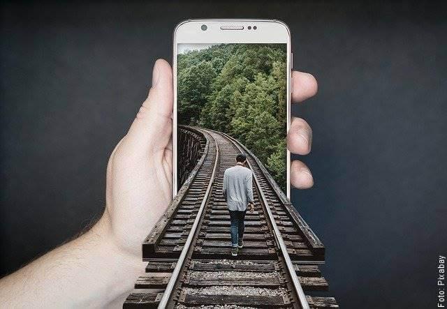 Foto de un teléfono inteligente