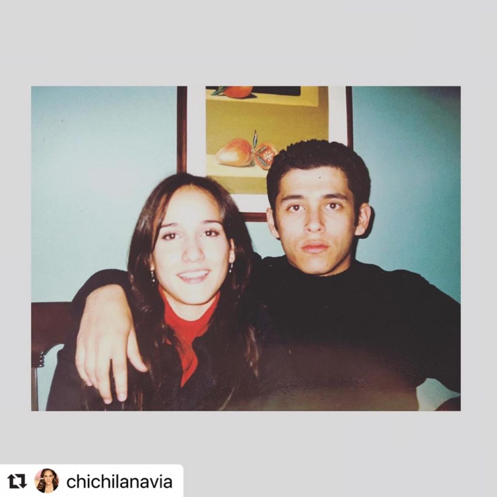 Chichila Navia y Santiago Alarcón en su juventud.