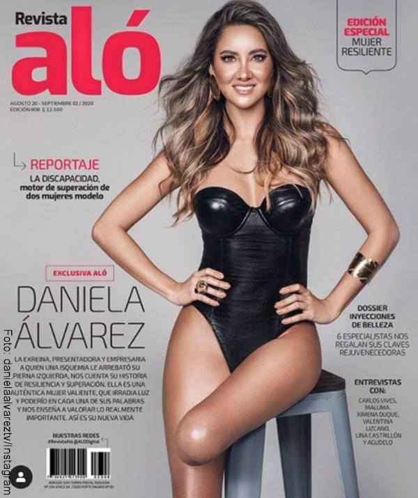 Foto de la portada de la revista Aló con Daniella Álvarez