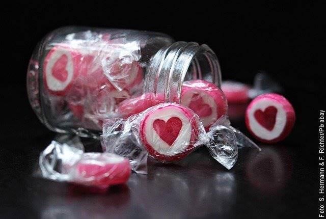 Foto de un frasco de dulces
