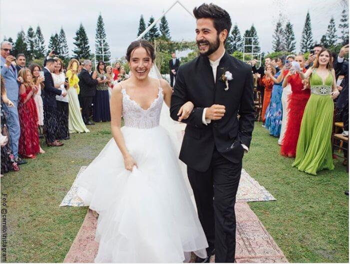 Foto de Camilo y Evaluna en su matrimonio