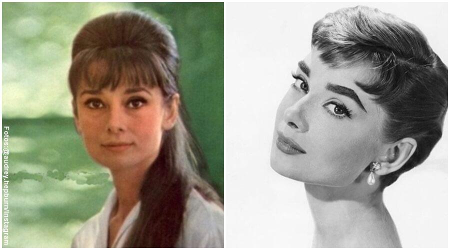 Fotos de Audrey Hepburn con cabello largo y cabello corto