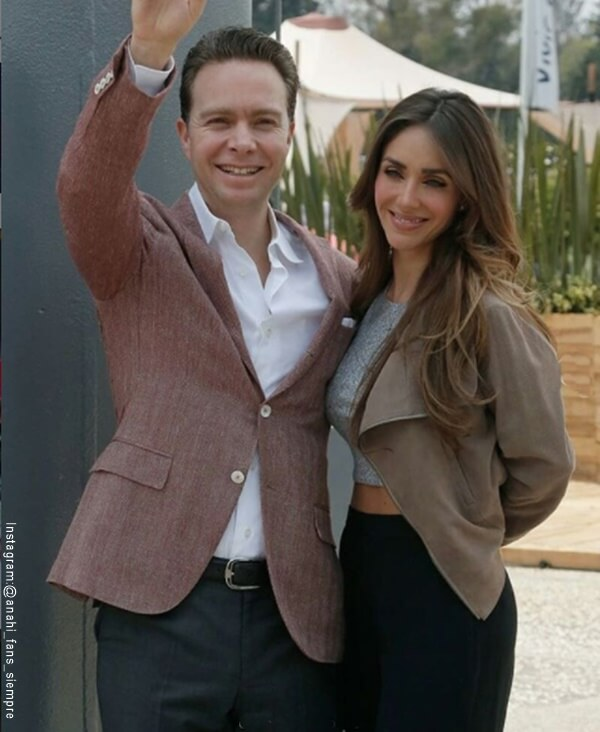 Foto de Anahi con su esposo
