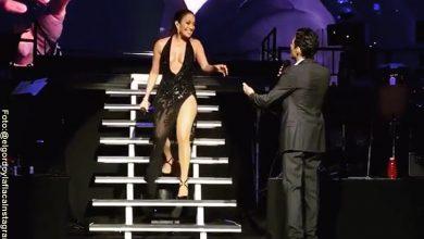 JLo apareció en un concierto de Marc Anthony e hizo esto