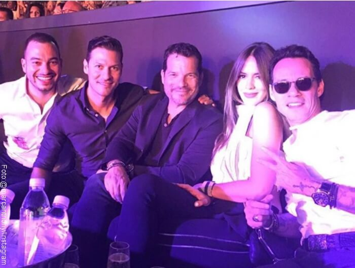 Foto de Marc Anthony, Shanon de Lima y amigos en concierto de Jlo