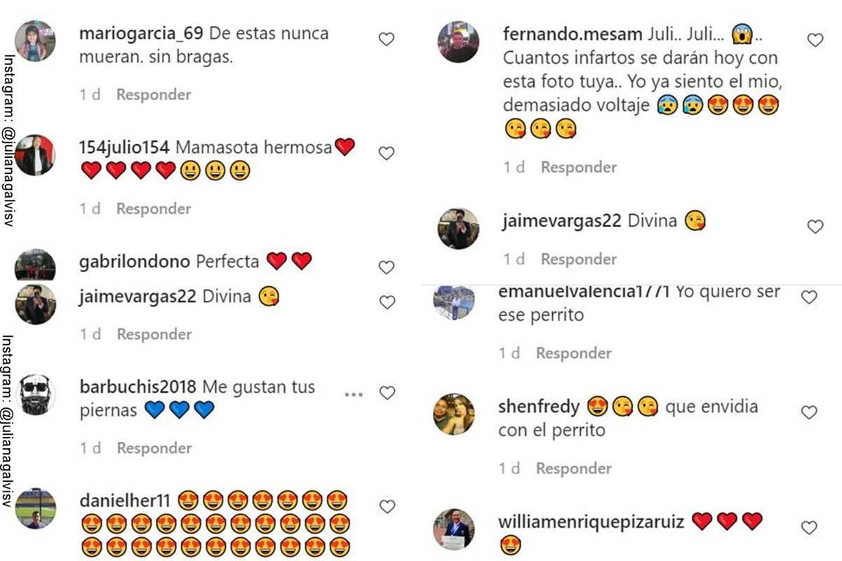 Comentarios de los seguidores de Juliana Galvis sobre su sensual foto en la cama