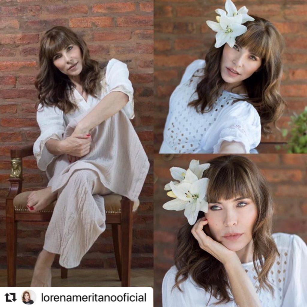 Lorena Meritano en la actualidad en una sesión de fotos.